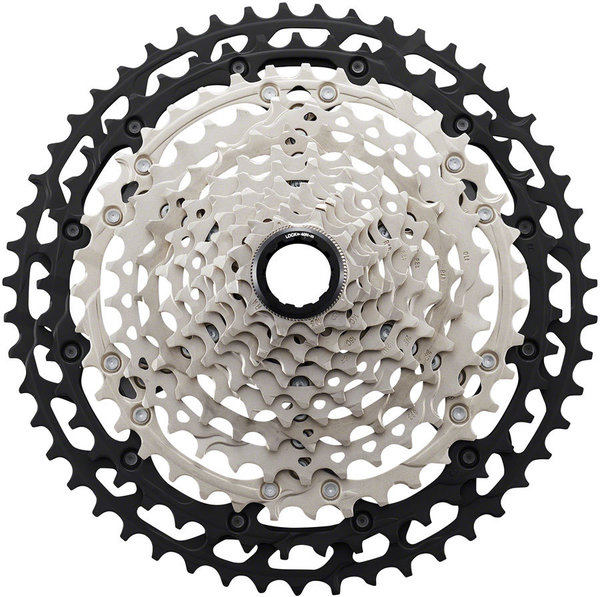 Shimano XT M8100 12-Speed Cassette Color: Silver/Black