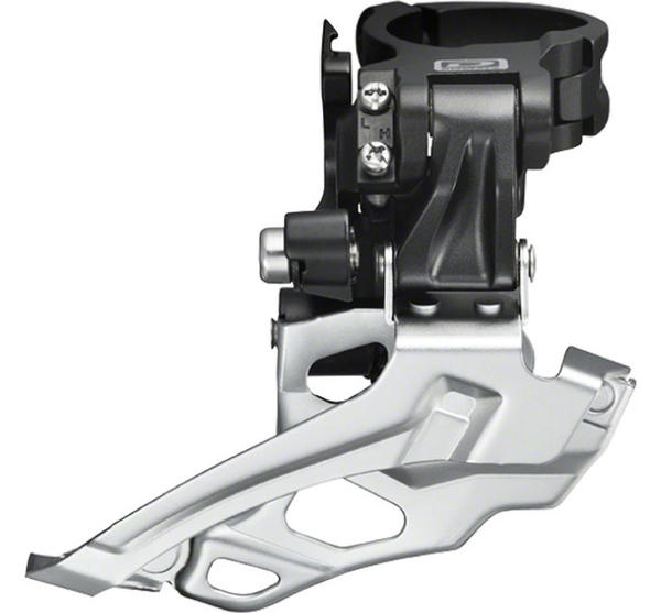 Shimano Deore 10-Speed Dual-Pull Double Front Derailleur (Down Swing, Multi-Clamp)