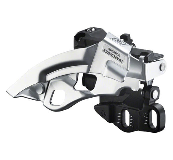 Shimano Deore 10-Speed Dual-Pull Double Front Derailleur (Top Swing, E-Type)