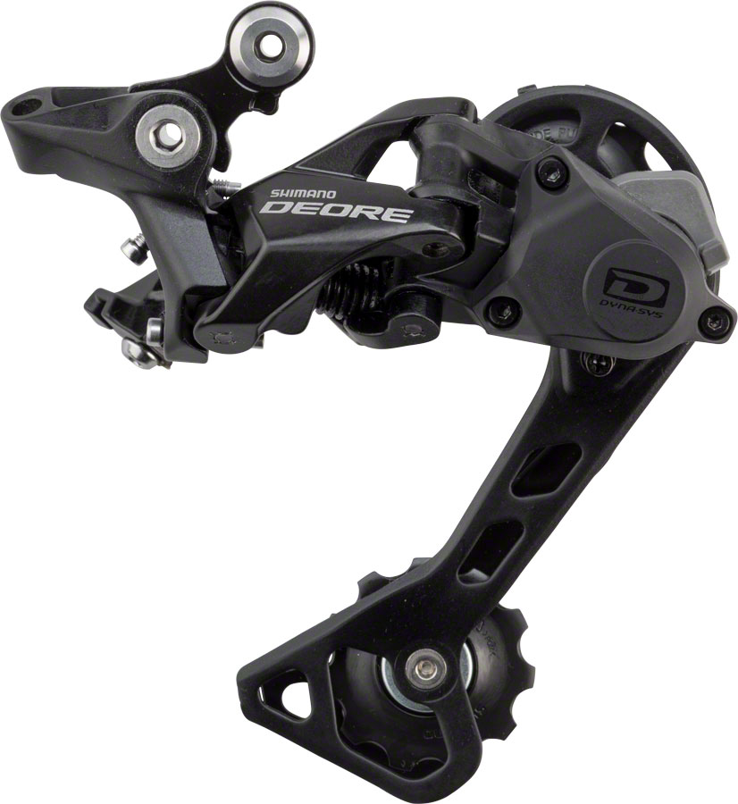 Shimano Deore M6000 Shadow+ Rear Derailleur Cage Length | Color | Speeds: Medium Cage | Black | 10-speed