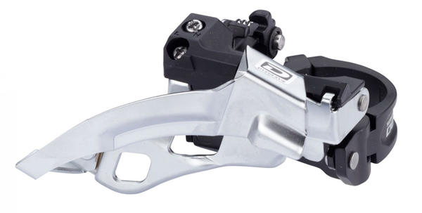 Shimano Deore 10-Speed Dual-Pull Triple Front Derailleur (Top Swing, Multi-Clamp)