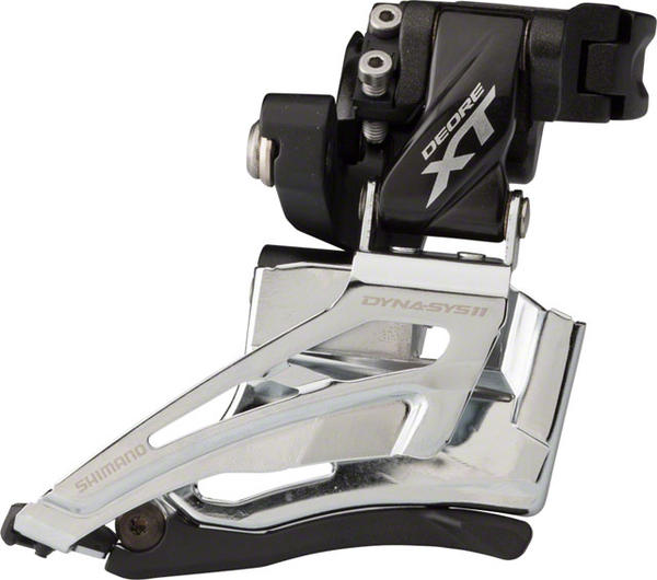 Shimano Deore XT Front Derailleur (High Clamp) Model: Down Swing/Dual Pull (Double)