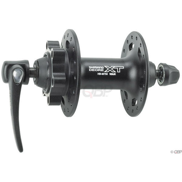 Shimano Deore XT M756 6-Bolt Disc Front Hub Color: Black