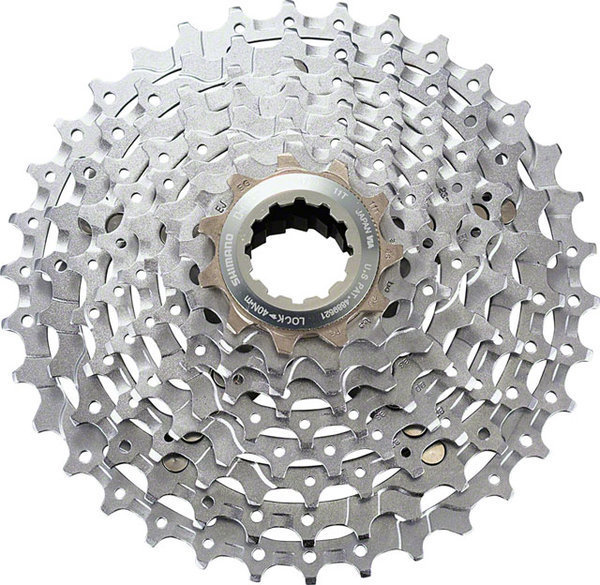Shimano Deore XT M770 9-Speed Cassette Color: Silver