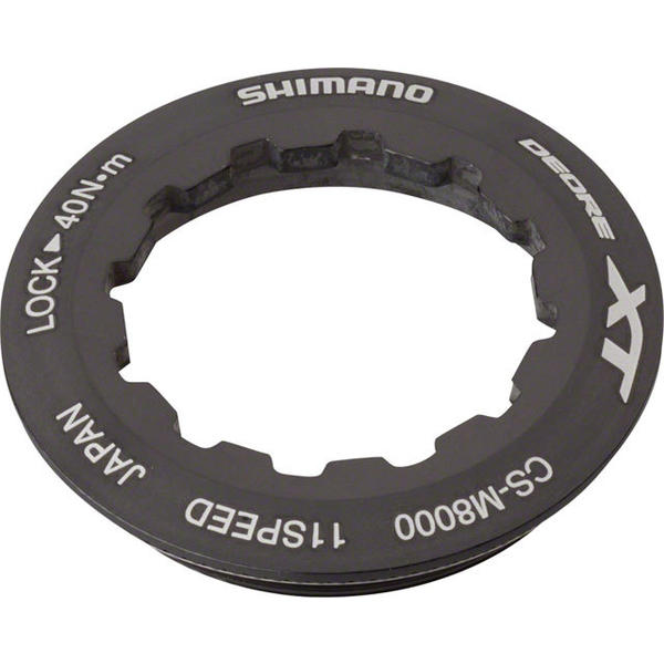 Shimano Deore XT M8000 Cassette Lockring Color: Black