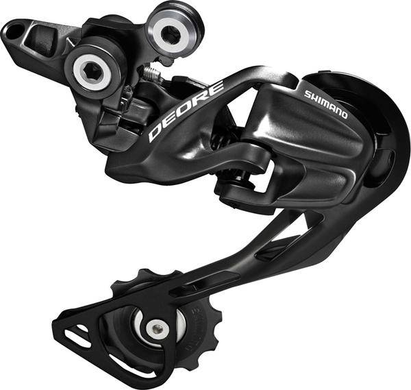 Shimano Deore Shadow Rear Derailleur (Mid Cage) Color: Black