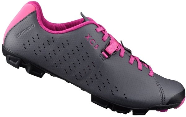 Shimano SH-XC5W Shoes Color: Gray/Magenta