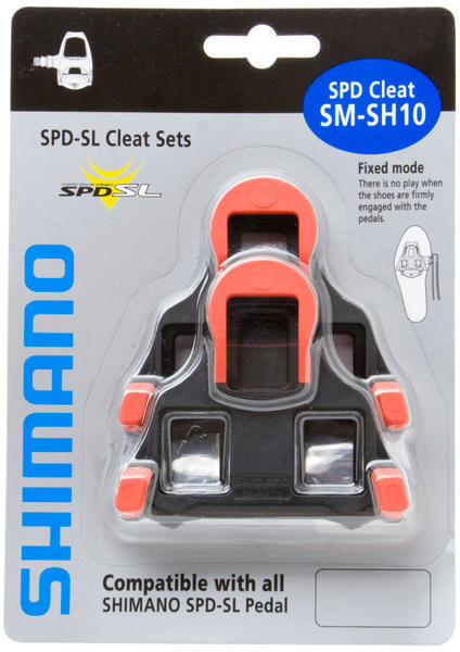 Shimano SPD-SL Cleat Set Model: Fixed Float (Black/Red)