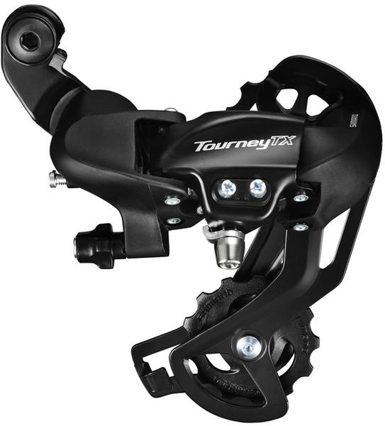 Shimano Tourney TX-800 Rear Derailleur Cage Length | Color | Speeds: Long Cage | Black | 7/8-speed