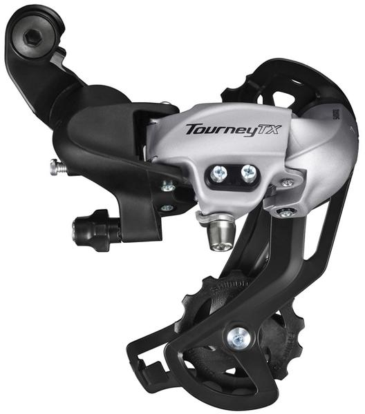 Shimano Tourney TX-800 Rear Derailleur Cage Length | Color | Speeds: Long Cage | Silver | 7/8-speed