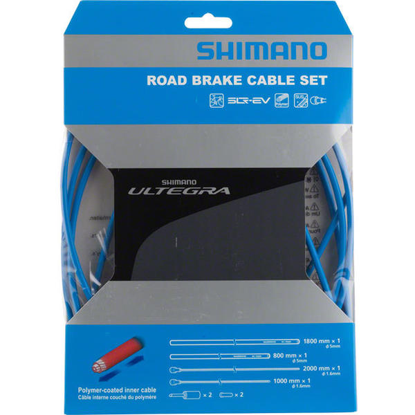 Shimano Ultegra R680 Polymer-Coated Brake Cable Set Color: Blue