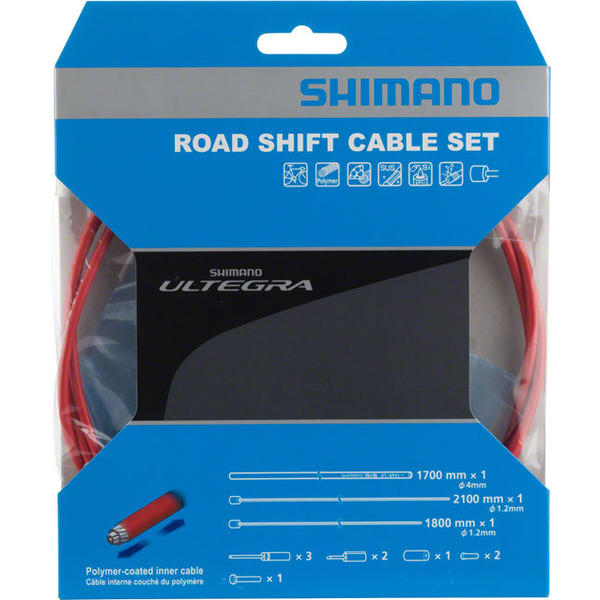 Shimano Ultegra SP41 Polymer-Coated Road Derailleur Cable Set