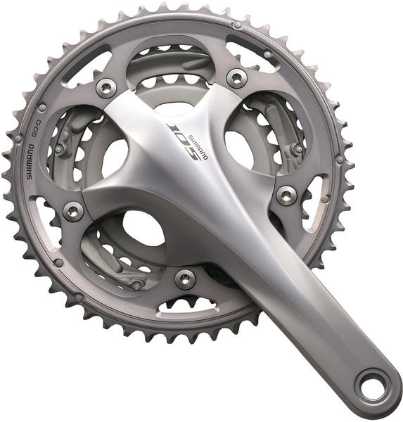 Shimano 105 Triple Crankset Color: Silver
