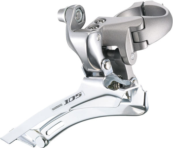 Shimano 105 Clamp-On Front Derailleur Color: Silver