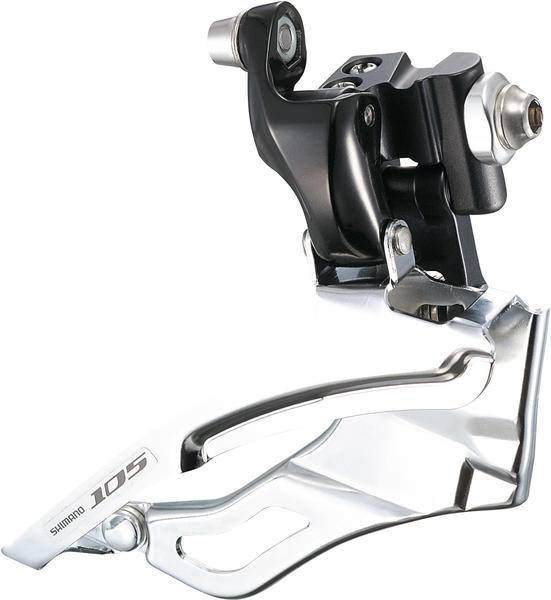 Shimano 105 Braze-On Front Derailleur (Triple Chainring) Color: Lodestar Black