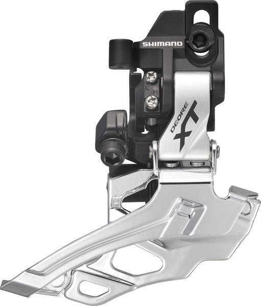 Shimano Deore XT Dyna-Sys 10-Speed Double Front Derailleur (Down Swing, Direct Mount) Color: Silver
