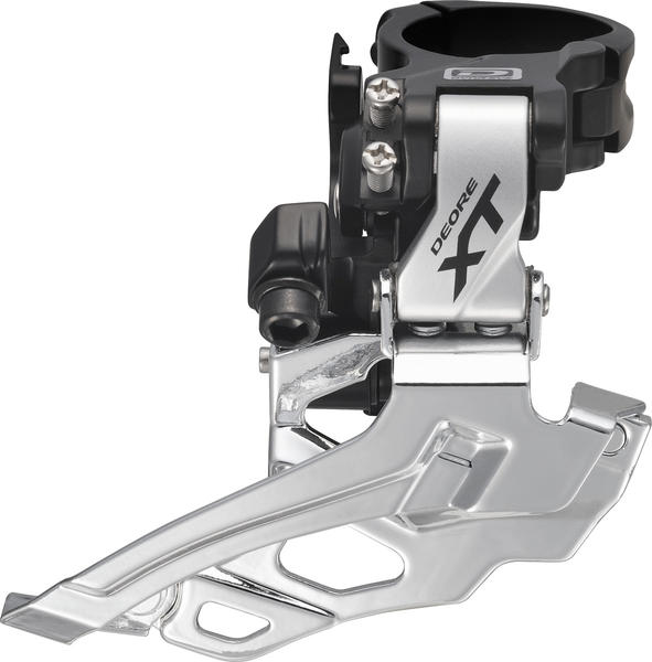 Shimano Deore XT Dyna-Sys 10-Speed Double Front Derailleur (Down Swing, Clamp-On) Color: Silver