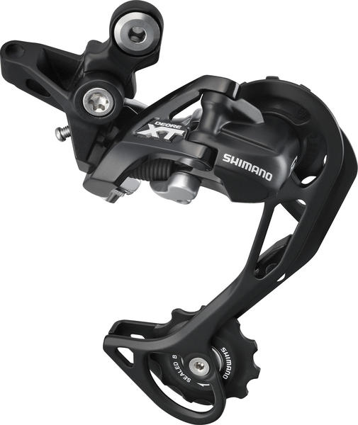 Shimano Deore XT Shadow Rear Derailleur (Mid Cage) (Top-Normal) Color: Lodestar Black