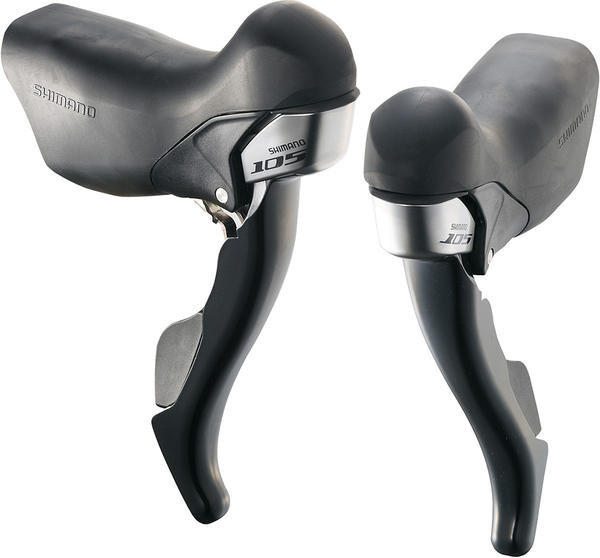 Shimano 105 Dual Control Levers (Triple) Color: Lodestar Black