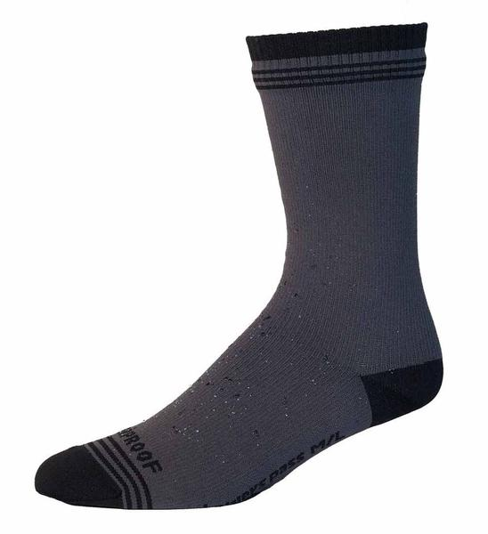 Showers Pass Crosspoint WP Wool Crew Sock Color: Gray/Black