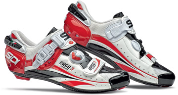 Sidi Ergo 3 Carbon Shoes Color: Red/White/Black