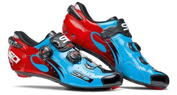 Sidi Wire Carbon Sky Blue/Black/Red