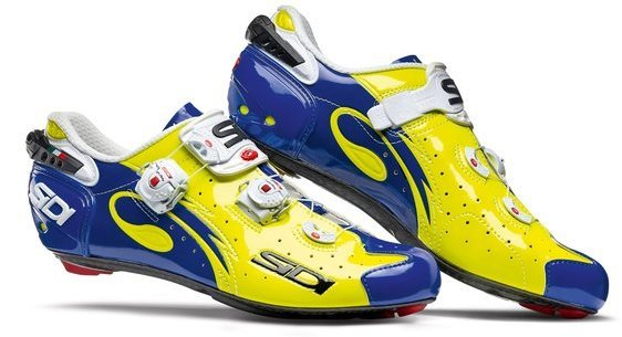 Sidi Wire Carbon Yellow Fluo/Blue