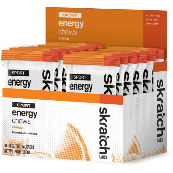 Skratch Labs Sport Energy Chews Flavor | Size: Orange | Single Serving 10-pack