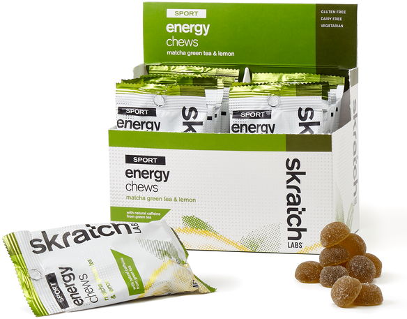 Skratch Labs Sport Energy Chews Flavor | Size: Matcha Green Tea and Lemon | Single Serving 10-pack