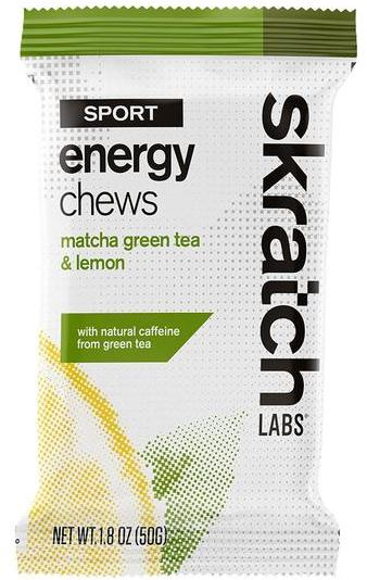 Skratch Labs Sport Energy Chews Flavor | Size: Matcha Green Tea and Lemon | Single Serving