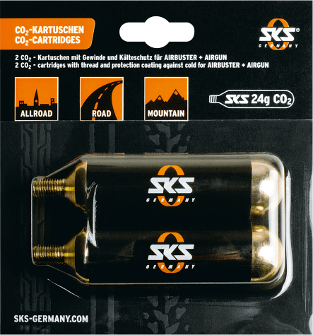 SKS CO2 Cartridges, Threaded Color: Black