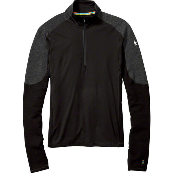 Smartwool Men's PhD Wind 1/2 Zip Shirt Color: Black