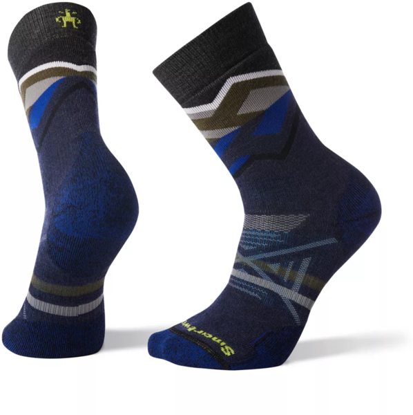 Smartwool PhD Outdoor Medium Pattern Crew Socks Color: Deep Navy