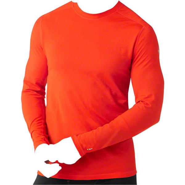 Smartwool Men's PhD Ultra Light Long Sleeve Shirt Color: Bright Orange