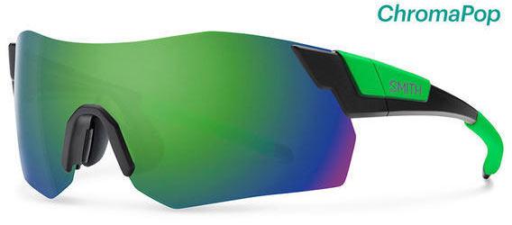 Smith Optics PivLock Arena Max Color | Lens: Matte Black Reactor | Chromapop Sun Green Mirror