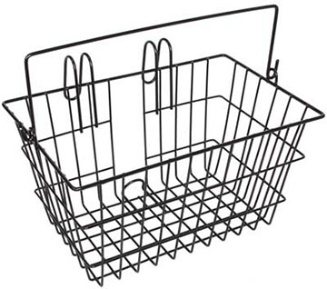 Sunlite Lift-Off Front Basket Color: Black