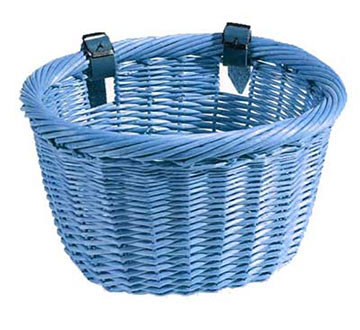 Sunlite Willow Mini Strap-On Basket Color: Blue