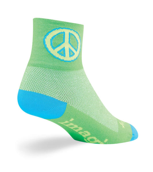 SockGuy Green Peace Socks Color: Green Peace