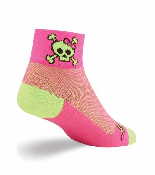 SockGuy Skull Pop Socks Color: Pink