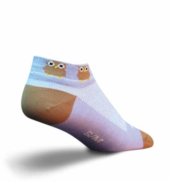 SockGuy Owl Socks - Women's Color: White/Brown