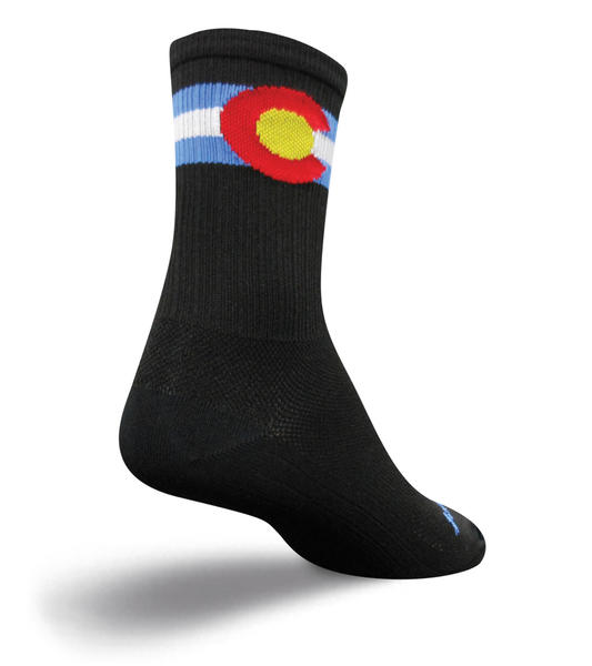 SockGuy SGX 6-inch Socks (Colorado) Color: Black