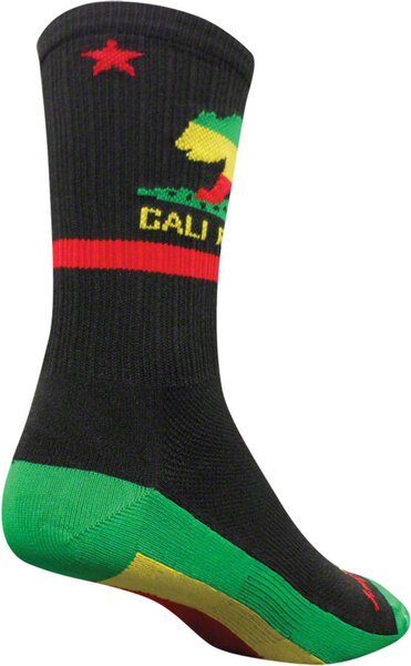 SockGuy SGX Rasta Cali Socks Color: Black