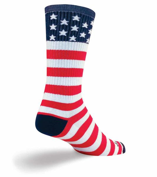 SockGuy USA Flag Socks Color: Red/White/Blue
