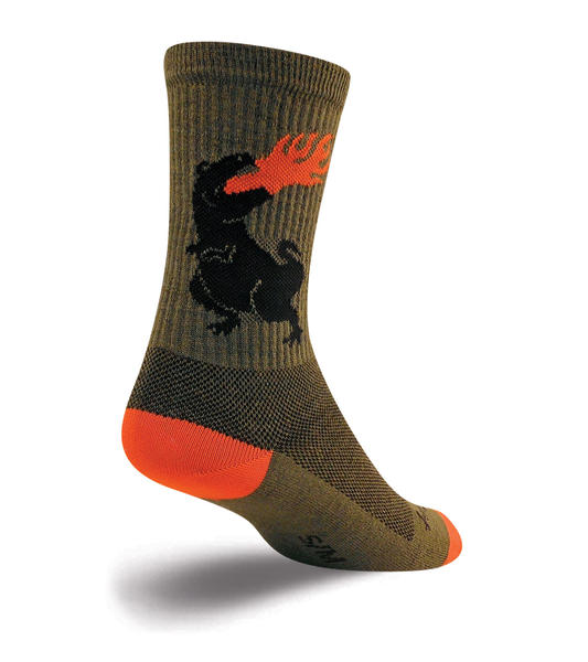 SockGuy Wool Socks (Dinosaur) Color: Dinosaur