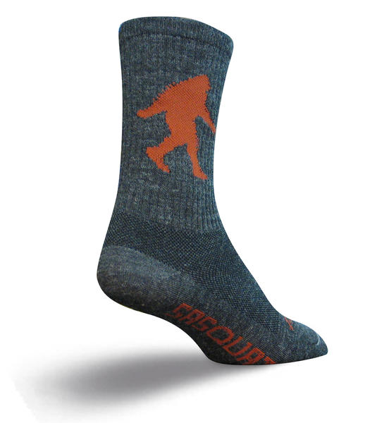 SockGuy Wool Socks (Sasquatch) Color: Gray/Brown