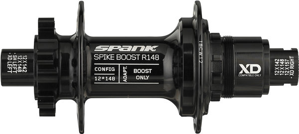 Spank Spike Boost R148 XD Hub Color: Black