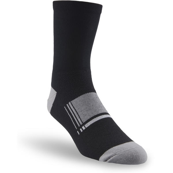 "Specialized Latitude 5"" Socks Color: Black/Charcoal/White"