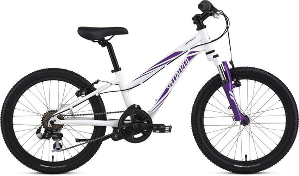 Specialized Girl's Hotrock 20 (6-Speed) Color: Gloss White/Purple