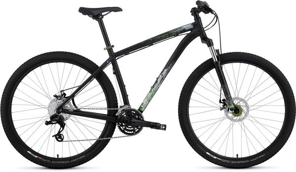 Specialized Hardrock Disc 29 Color: Black Punk/Green Ano