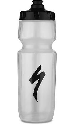 Specialized Purist Hydroflo MoFlo Water Bottle Color: Translucent/Black S-Logo